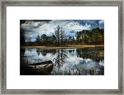 Seney And The Rowboat Framed Print