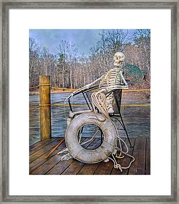 Senior Lifeguard In Charge Framed Print