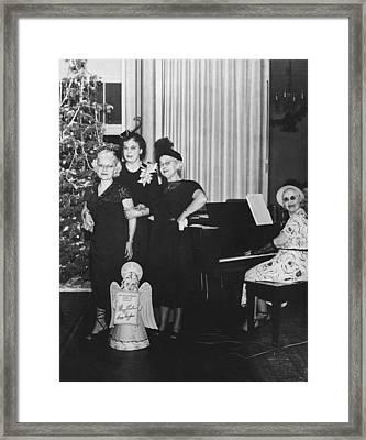 Senior Women's Merry Christmas Framed Print by Underwood Archives