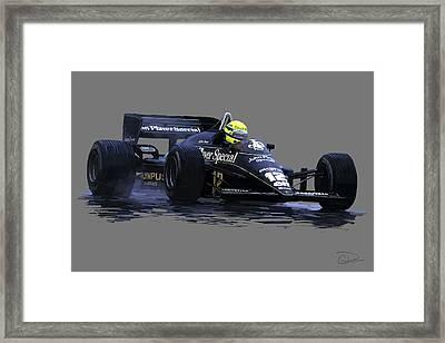 Senna Na Chuva Framed Print