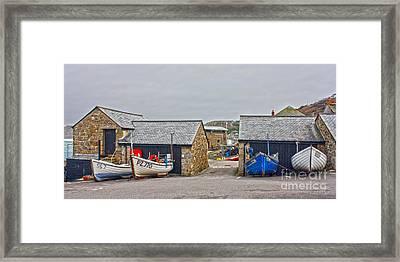 Sennen Cove Fishing Fleet In Winter Framed Print by Terri Waters