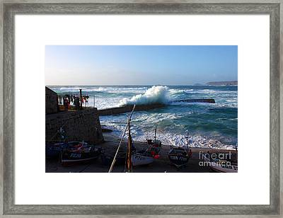 Sennen Cove Harbour Cornwall Framed Print by Terri Waters
