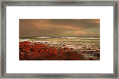 Sennen Storm Framed Print by Linsey Williams