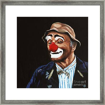 Senor Billy The Hobo Clown Framed Print by Patty Vicknair