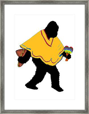 Senor Squatcho De Mayo - Poncho Framed Print by Gravityx9   Designs