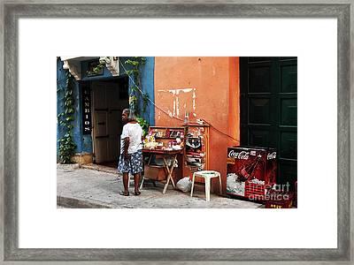 Senora De Cartagena Framed Print by John Rizzuto