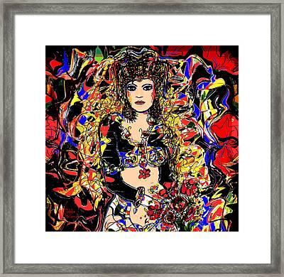 Senorita Florita Framed Print by Natalie Holland