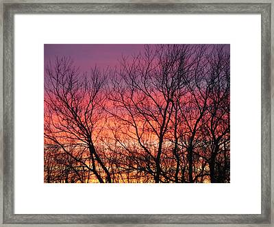 Sensational Sunrise Marching In Framed Print