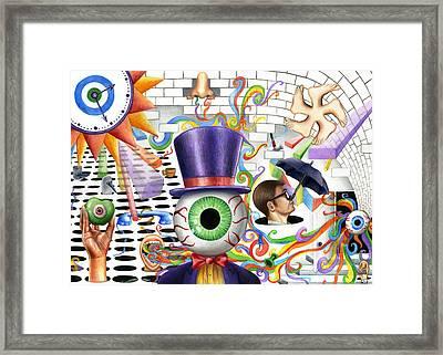 Senses Framed Print by Kit Clock