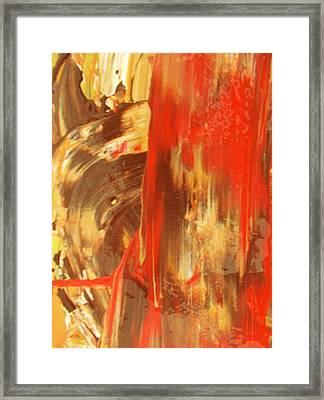 Sensing Framed Print by Artist Ai