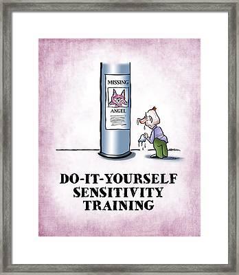 Sensitivity Training Framed Print by Mark Armstrong