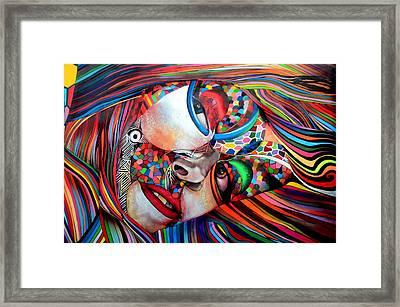 Sensual Looking Framed Print by Laura Jimenez