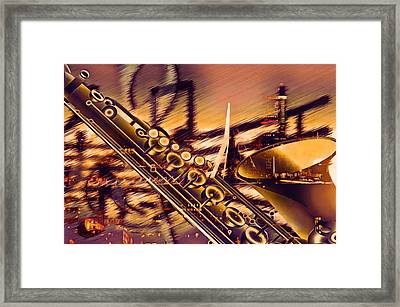 Sensual Sax Framed Print by Georgiana Romanovna