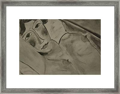 Sensual Woman Framed Print by Daniele Fedi
