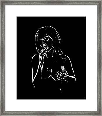 Sensuality Framed Print by Steve K