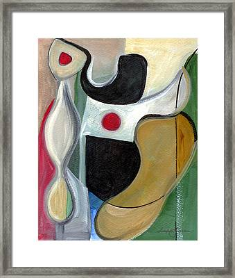 Framed Print featuring the painting Sensuous Beauty by Stephen Lucas
