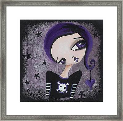 Sentimentally Deranged - Black Star Framed Print