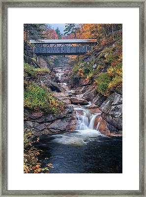 Sentinal Pine Bridge - White Mountains National Forest Framed Print by Thomas Schoeller