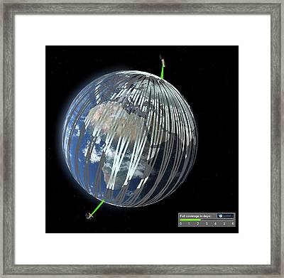 Sentinel-1 Framed Print by Esa/atg Medialab