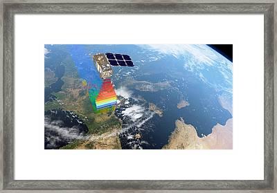 Sentinel-2 Satellite In Orbit Framed Print