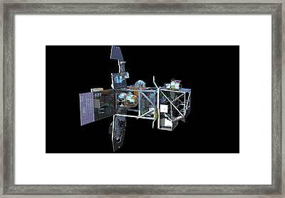 Sentinel-2 Satellite Interior Framed Print by Atg Medialab/esa