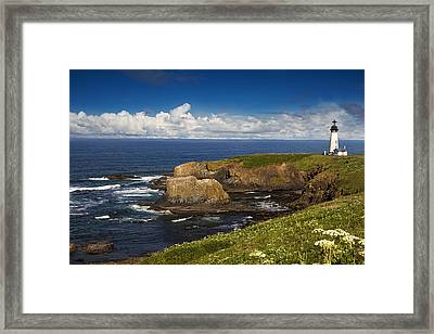 Sentinel On The Pacific Coast Framed Print by Andrew Soundarajan