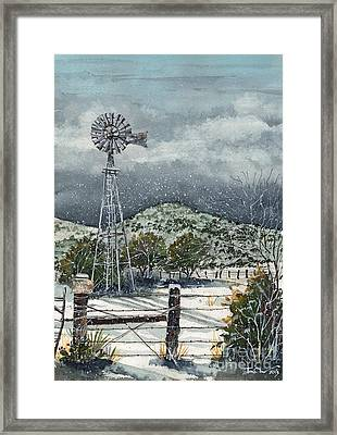 Sentinel Peak On Sentinel Ranch Framed Print by Tim Oliver