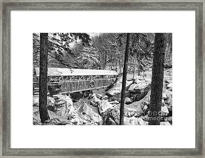 Sentinel Pine Covered Bridge - Franconia Notch State Park New Hampshire Usa Framed Print by Erin Paul Donovan