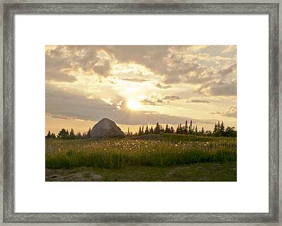 Sentinel Rock Sunset Framed Print