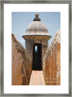 Sentinel Tower Framed Print