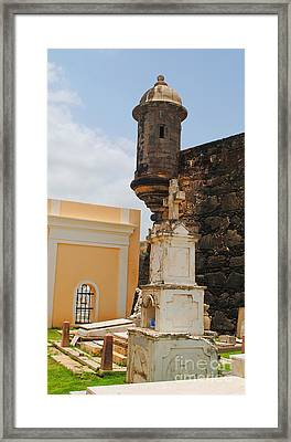 Sentinel Tower Over Graves Framed Print