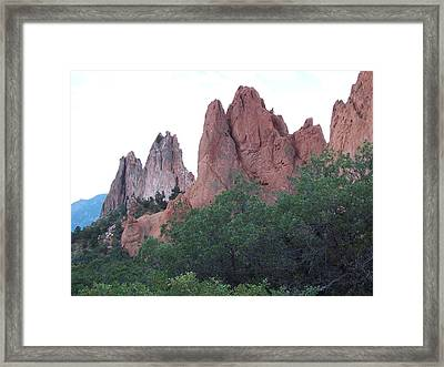 Framed Print featuring the photograph Sentinels by Sheila Byers