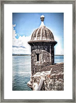 Sentry Box In El Morro Hdr Framed Print