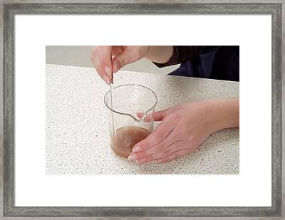Separating Salt From Rock Salt Framed Print