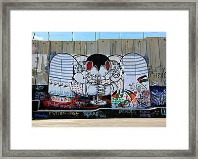 Separation -- West Bank Barrier Wall Framed Print