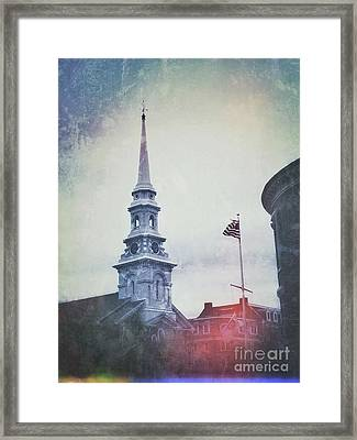 Separation Of Church And State Framed Print by John Adams