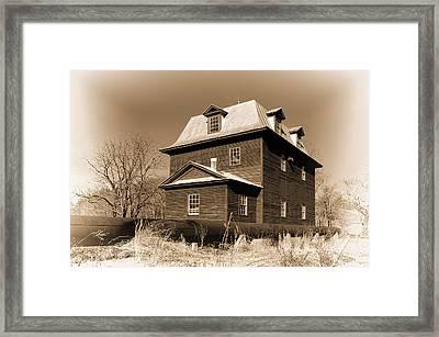 Sepia Big Otter Mill - Va. Framed Print