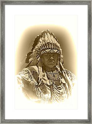Sepia Chief Framed Print by Scarlett Images Photography