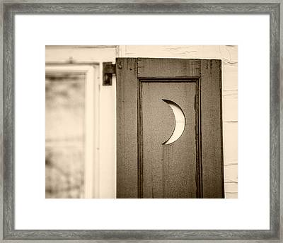 Sepia Crescent Moon Bathroom Decor Framed Print