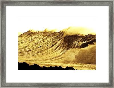 Sepia Curve Framed Print by Sean Davey