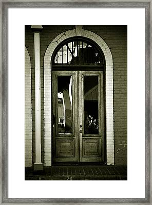 Sepia Door Framed Print by Cherie Haines