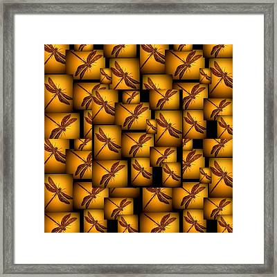 Sepia Dragonflies Framed Print