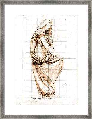 Sepia Drapery Study 1896 Framed Print by Padre Art