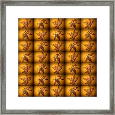 Sepia Leaves Framed Print by Cathy Jacobs