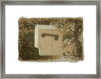 Sepia Mailbox Framed Print