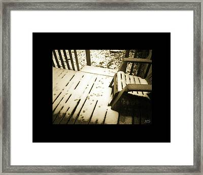 Sepia - Nature Paws In The Snow Framed Print by Absinthe Art By Michelle LeAnn Scott
