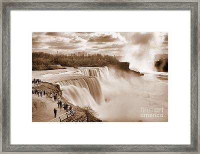 Sepia Niagara Falls Framed Print by Daniel J Ruggiero