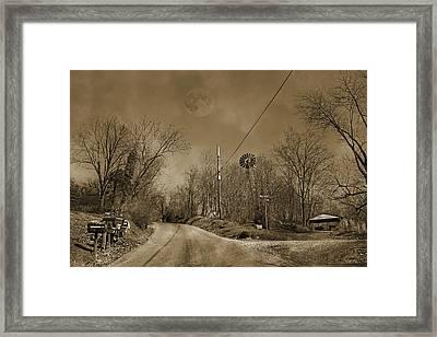 Sepia Oz Framed Print by Betsy Knapp