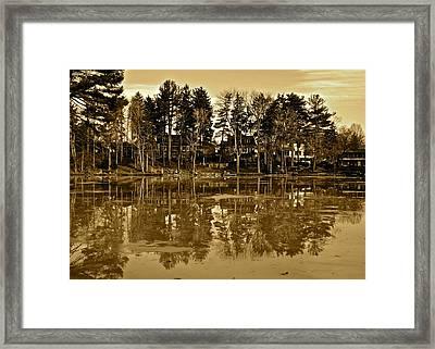 Sepia Reflection Framed Print by Frozen in Time Fine Art Photography