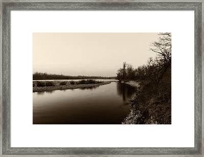 Sepia River Framed Print